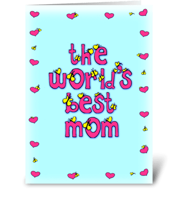 the world's greatest mom greeting card