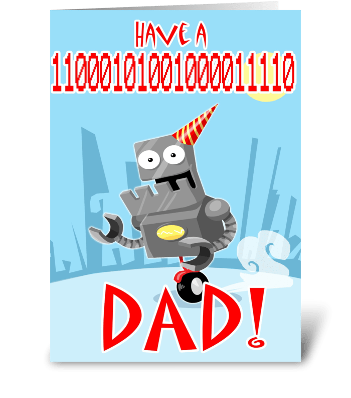 Have a 11000101001000011110 DAD! greeting card