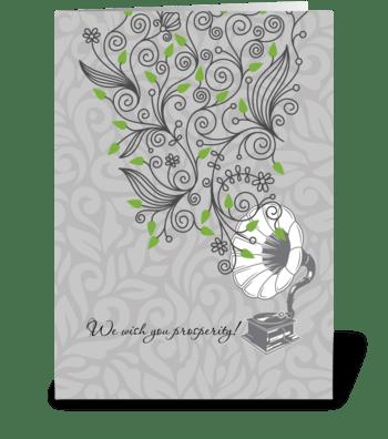 Prosperity_growing greeting card