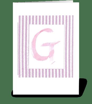 G - Baby Girl greeting card