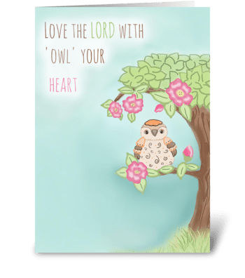 Love with all your heart greeting card