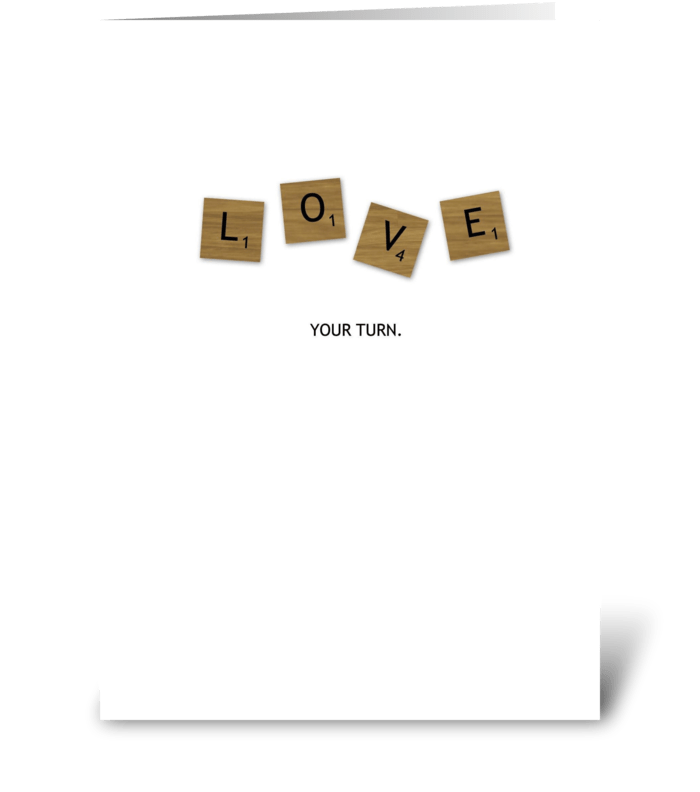 Scrabble Love greeting card