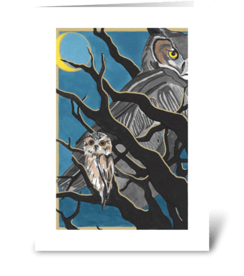 Oliver's Owls greeting card