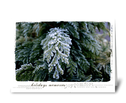 Christmas Winter Tree greeting card