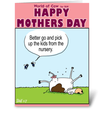 Mother's Day Card. Nursery. greeting card