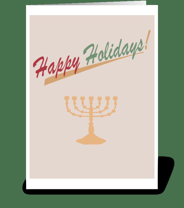 Holiday Menorah greeting card