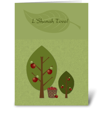 Rosh Hashanah Apple Trees  greeting card
