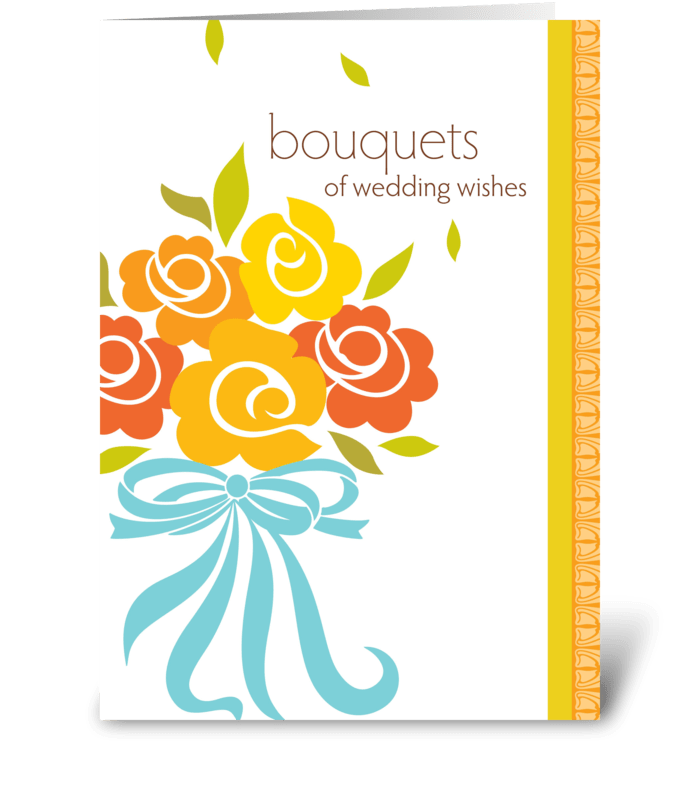Bouquets of wedding wishes send this greeting card designed by studio expressio bouquets of wedding wishes greeting card m4hsunfo