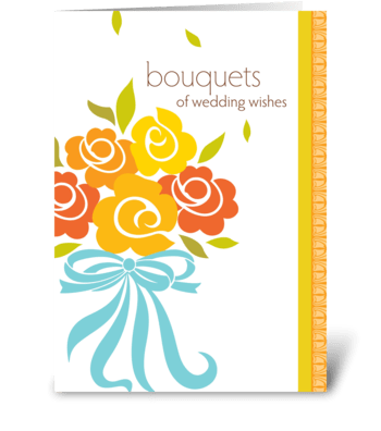 bouquets of wedding wishes greeting card