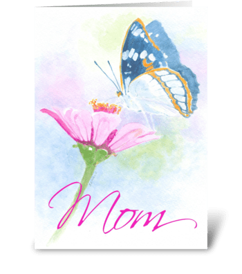 Thoughts of Mom greeting card