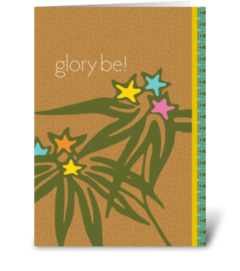 glory be! greeting card