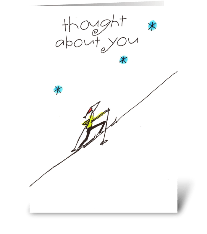 thought about you greeting card