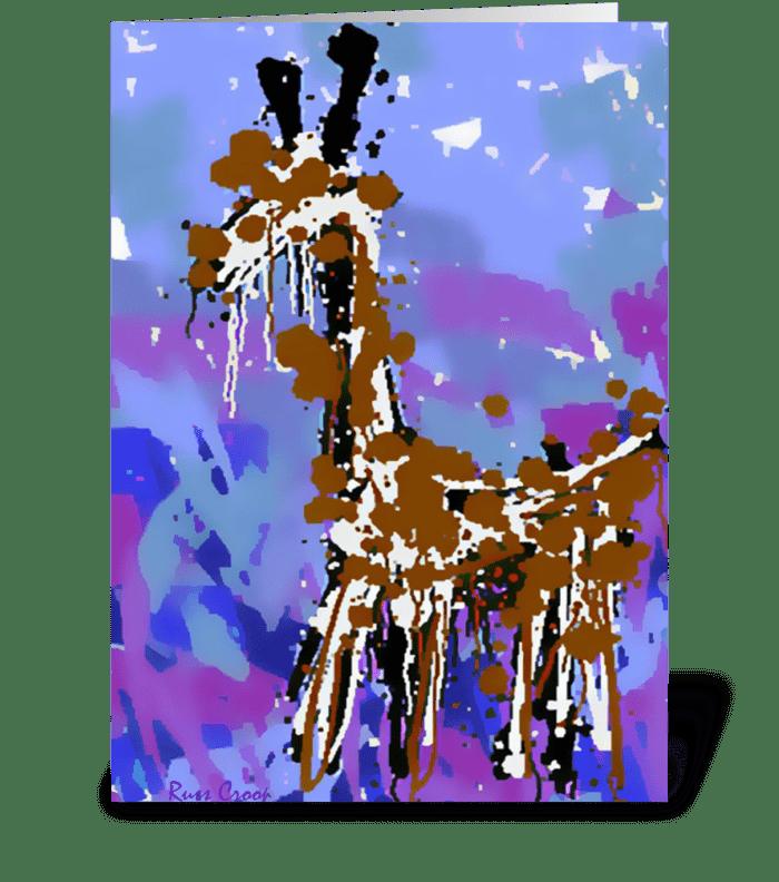 A Giraffe named Bob greeting card
