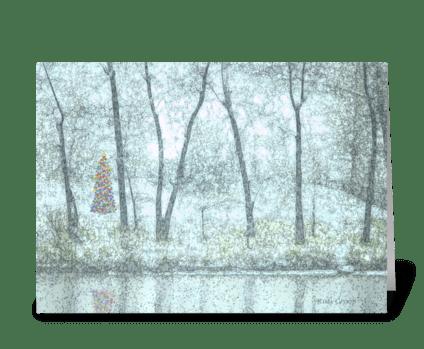 Snowy Christmas Tree greeting card