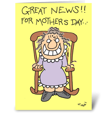 Great News-Mother's Day greeting card