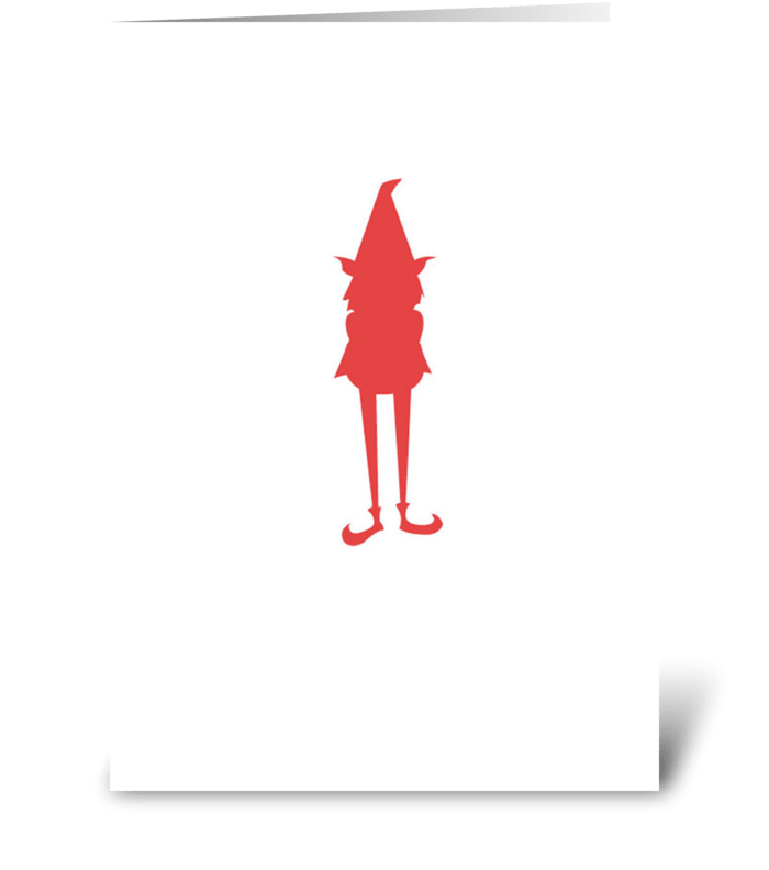 Red Gnome greeting card