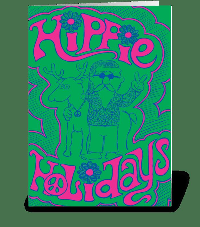 Hippie Holidays greeting card