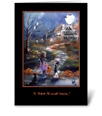 """Little """"Trick or Treaters"""" greeting card"""