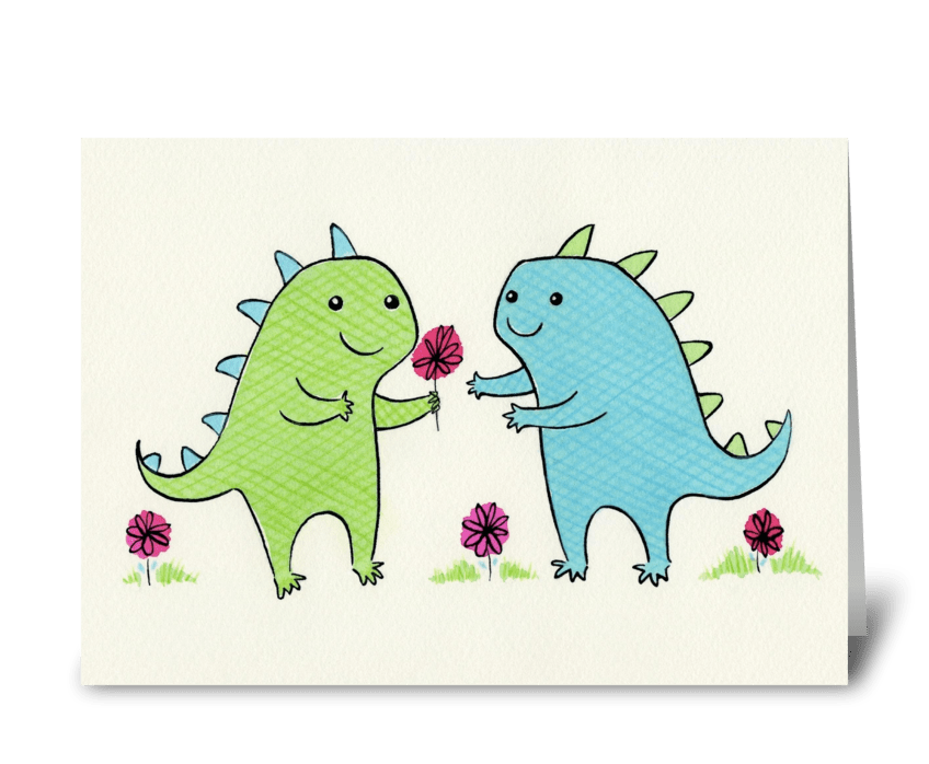 Dino Love greeting card