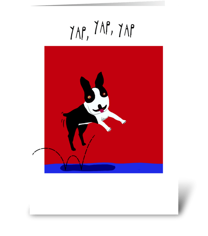 Yappy Birthday greeting card