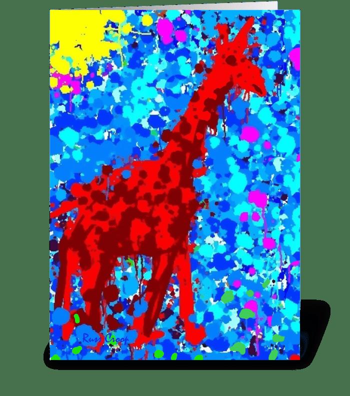 A Giraffe named Riley greeting card