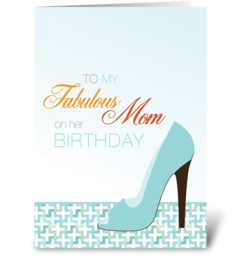 Mommy's glam shoe greeting card