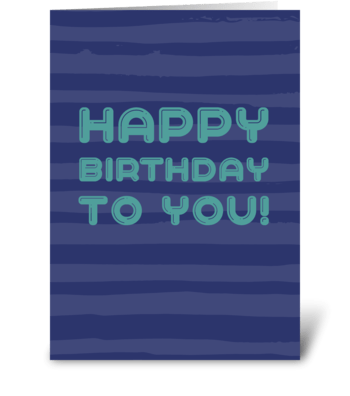 A deep blue birthday card greeting card