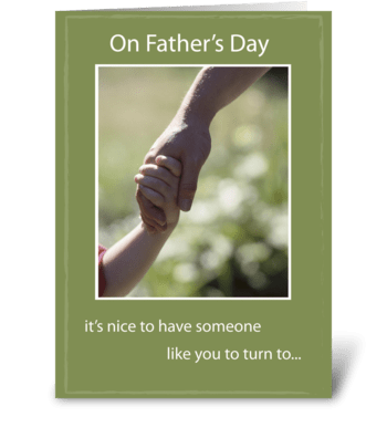 Father's Day Hand in Hand greeting card