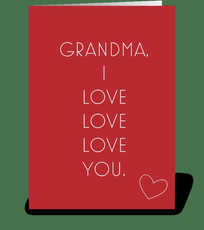 Grandma Love greeting card