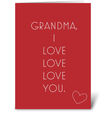 Grandma Love greeting card