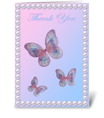THANK YOU BUTTERFLY CARD greeting card