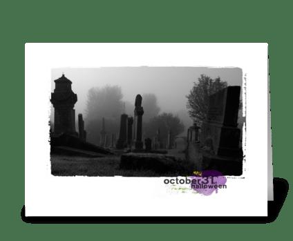 Halloween scary card greeting card