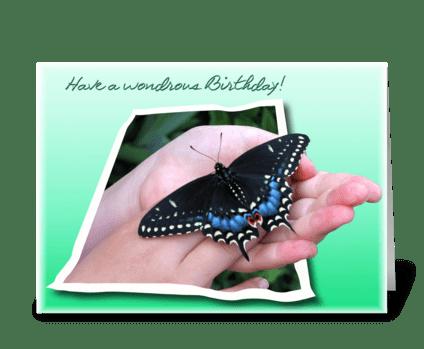 Wondrous Birhtday greeting card