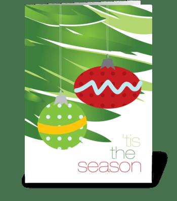 Xmas ornaments greeting card