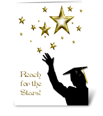 Graduate Congratulations Stars Male  greeting card