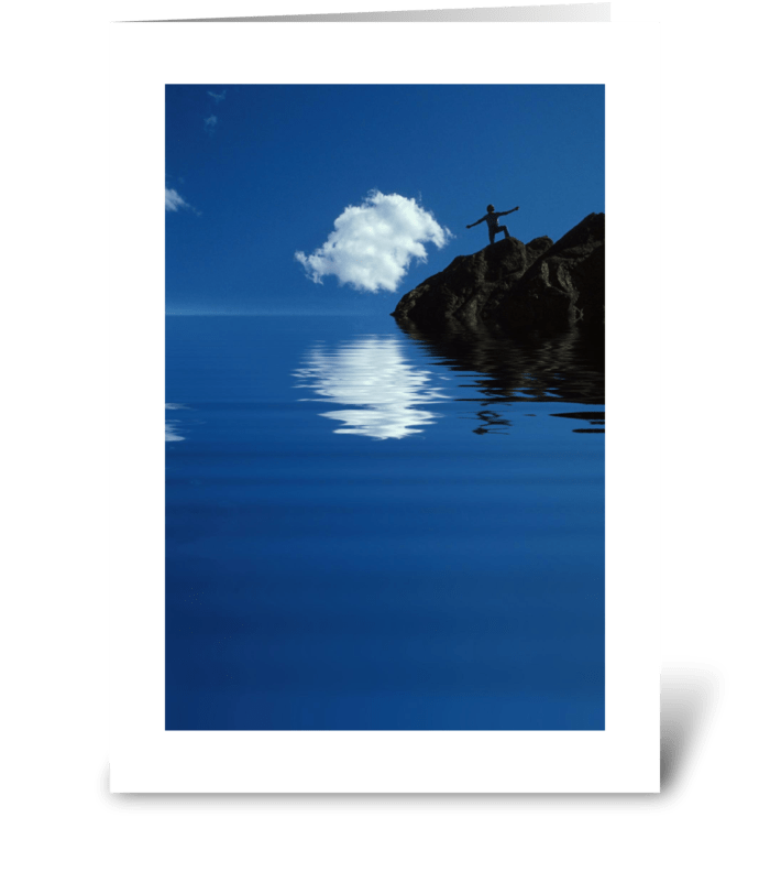 Touching the Clouds greeting card