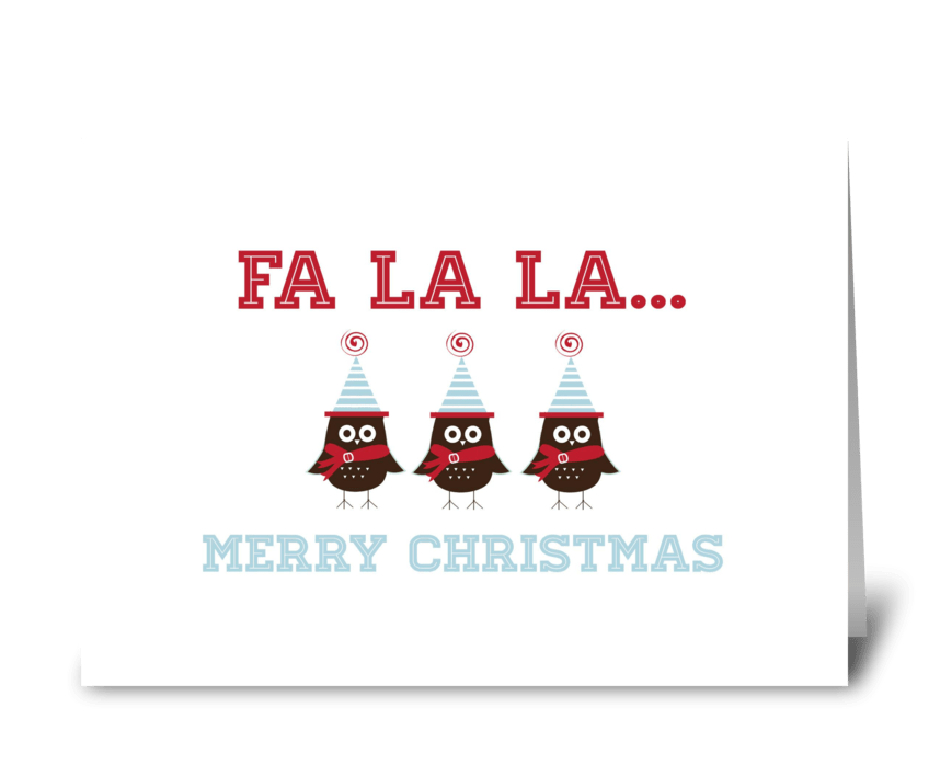 Fa La La... greeting card