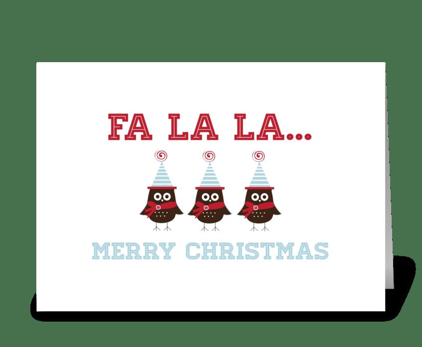 Fa La La... greeting card