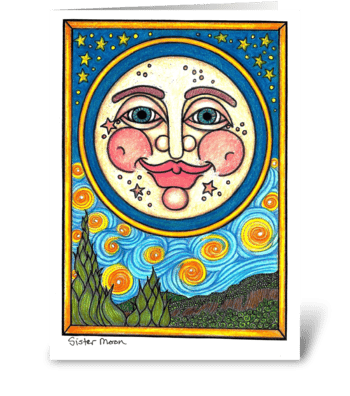 Sister Moon greeting card