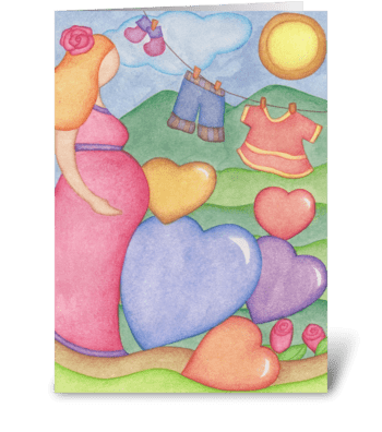 A Mom greeting card