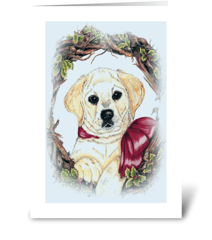 Christmas Labrador puppy\