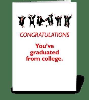 College Graduation greeting card