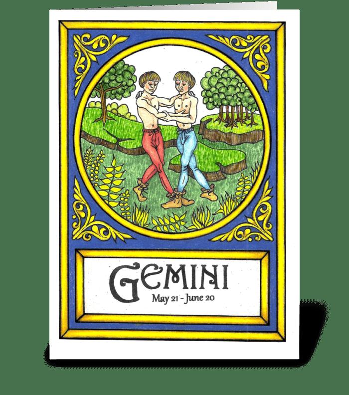 GEMINI greeting card