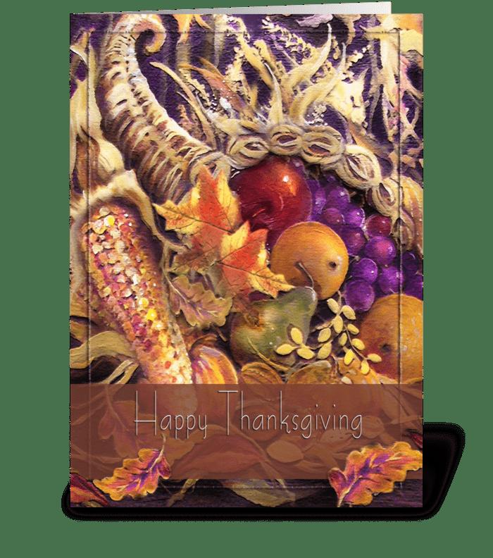 Fruits of Plenty, Thanksgiving Greeting greeting card