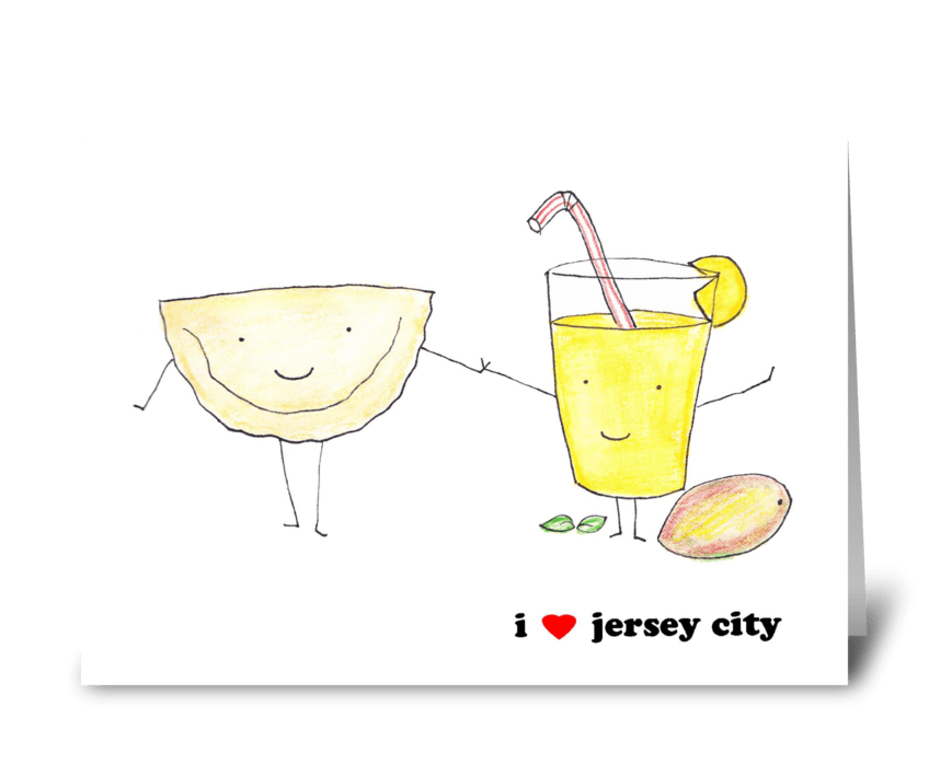 I Love Jersey City greeting card