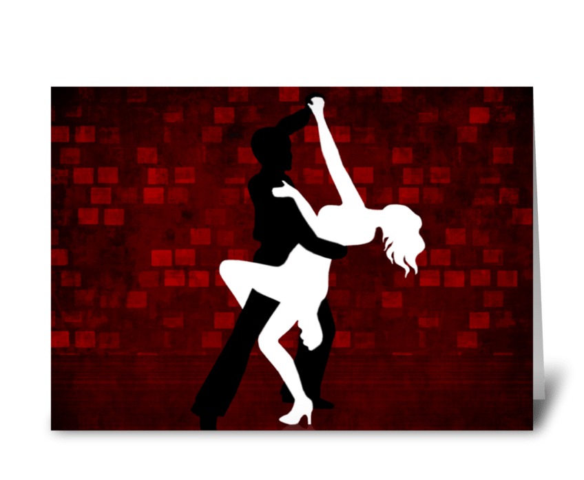 Tango Series 3 greeting card