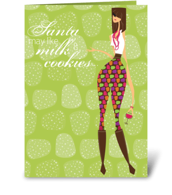 Wine and Truffles Christmas greeting card