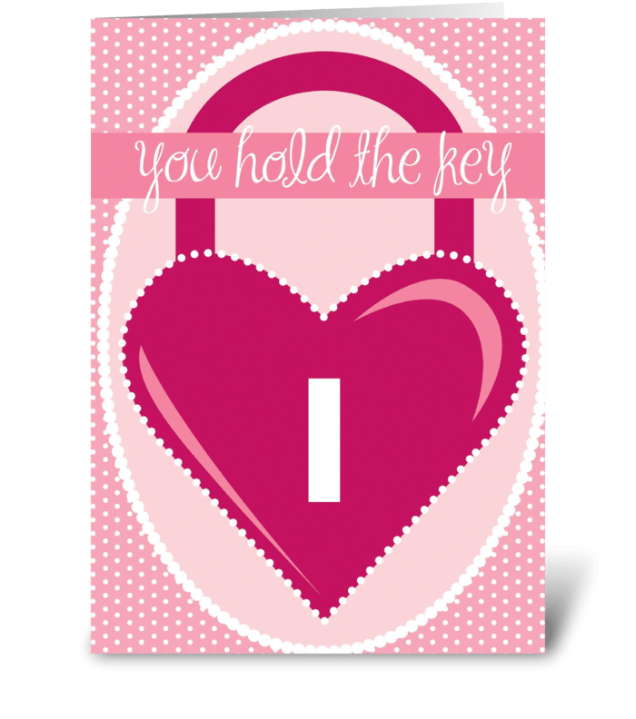 Lock n Key greeting card