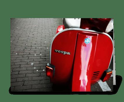 Amsterdam Vespa greeting card