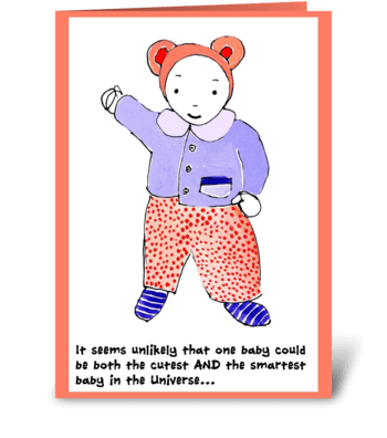 Best baby in the universe greeting card